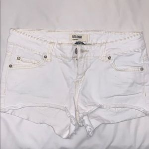 Garage White Booty Denim Shorts